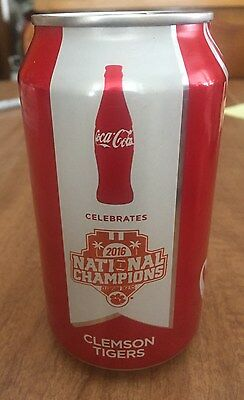 2016 2017 Clemson Tigers Football National Championship Coca-Cola Coke Can FULL