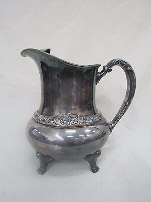 """Community by Oneida Silver Plated 8.5"""" Ballad Water Pitcher w/ Ice Lip 1148.4g"""