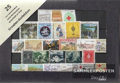 Croatia 25 different stamps