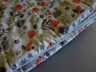 New Handmade wholecloth quilt Gray White Dots+nature 100%cottonQuilt shop fabric