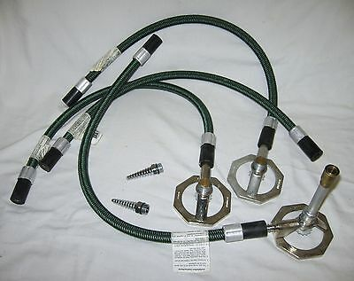 HUMBOLDT Natural Bunsen Burner Model 6200.1 + (4) KANTLEKE Model 23 Hoses