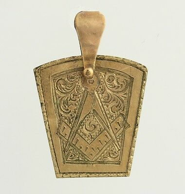 Royal Arch Masonic Fob Pendant - Gold Filled Vintage Mason Men's RAM Keystone