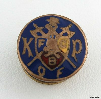 Knights of Pythias - Vintage FCB K of P Pin Member Collectible Crest Lapel