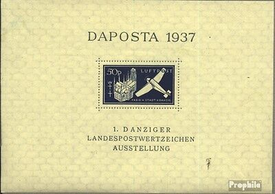 Gdansk block2b (complete issue) first-day stamp used 1937 DAPOS