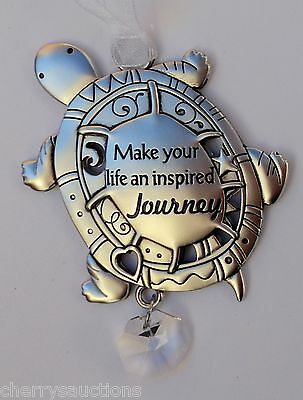 J Make your life an inspired journey TURTLE BEAUTIFUL BLESSINGS ORNAMENT car