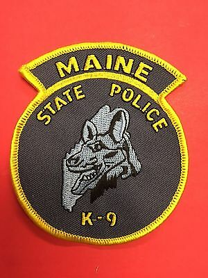 Maine State Police  K-9 Shoulder  Patch