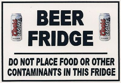 Refrigerator Magnet - 3 1/2 X 5 inches - Beer Fridge - Coors Light