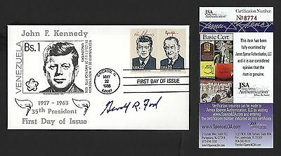 Gerald Ford signed postal cover JSA Authenticated 38th US President