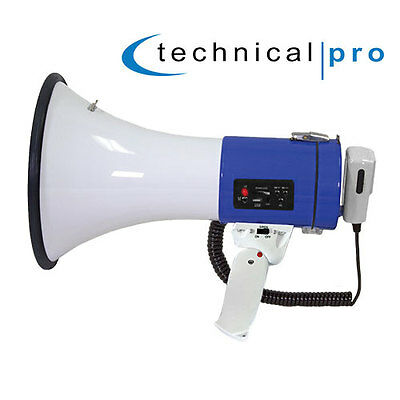 Technical Pro 50W Megaphone with Mic & Recorder