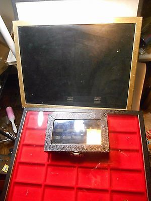 Lot Of 4 Glass Topped Travel Display Cases