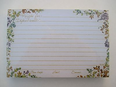 Spiced Nature 50 Lined Recipe Cards card 4x6 Legacy natural Bridal shower gift