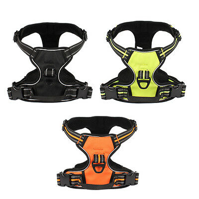 New Arrival Reflective Large Dog Harness Nylon Pet Dog Training Vest With Handle