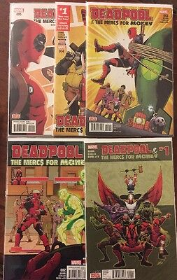 Deadpool and the Mercs for Money 1-5 Complete Set Comic Lot