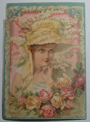 1800's Victorian Trade Card Lairds Beauty Soap Humiston Keeling & Co Chicago Ill