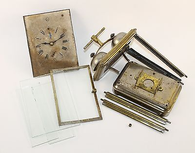 ANTIQUE CARRIAGE CLOCK CO PARTS For Parts and Repair!!   WM550