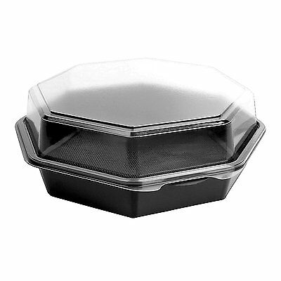 SOLO 864055-PS94 Creative Carryouts OctaView Polystyrene Hinged Cold Food Pak, x