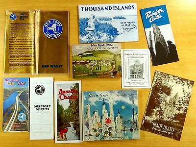 NEW YORK Books Brochures Map 1950's-75 YANKEE STADIUM 1000 ISLANDS ROCKEFELLER
