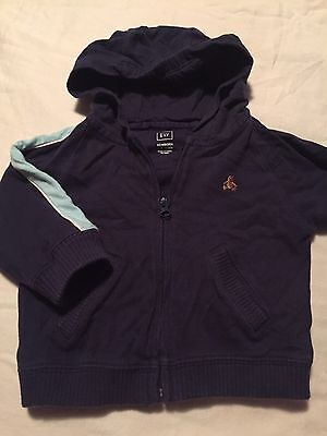 Baby Gap Boys Blue Hooded Jacket Size 6-12 Months