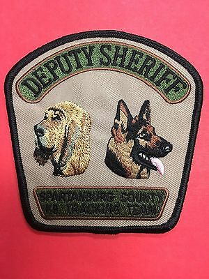 Spartanburg County South Carolina  Sheriff K-9  Tracking Team Shoulder  Patch