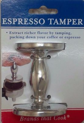 Harold 2-Sided Silver Espresso Coffee Grounds Packing Tamper w/ 50mm & 55mm Base