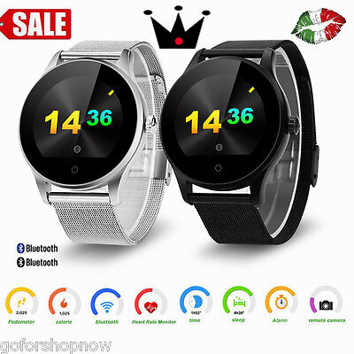 Waterproof Intelligente Orologio Bluetooth Smart Watch Camera SD For Android IOS