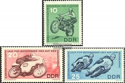 DDR 972-974 (complete.issue) unmounted mint / never hinged 1963 motorcycle world