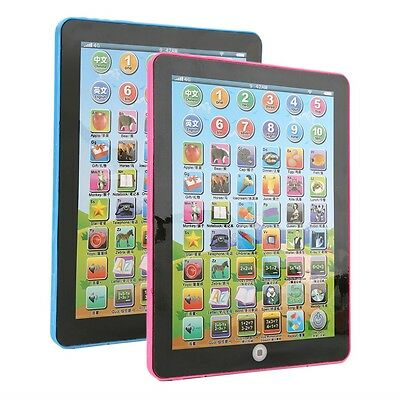 Tablet Pad Computer For Kid Children Learning English Educational Teach Toy C#