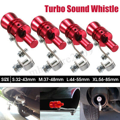 S M L XL Exhaust Turbo Whistle Pipe Sound Muffler Bov Blow Off Valve BOV Red