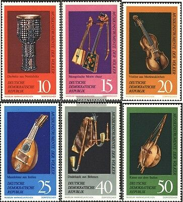 DDR 1708-1713 (complete.issue) unmounted mint / never hinged 1971 Musical Instru