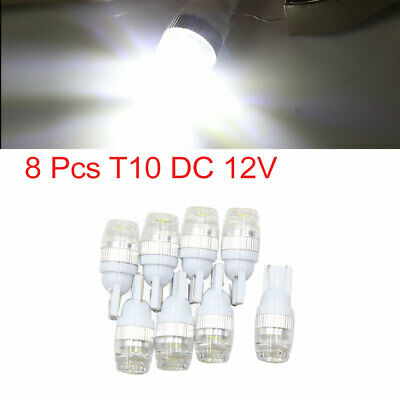 8pcs White T10 Wedge 2-SMD 5630 LED Light Bulbs W5W 2825 158 192 168 Interior