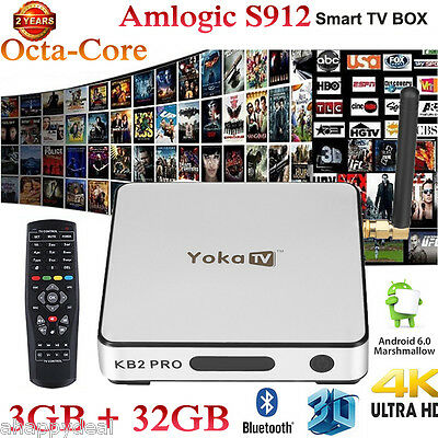 3GB/32GB Octa Core 3D TV BOX PC Android 6.0 Amlogic S912 4K*2K HDR 10 Dual WIFI