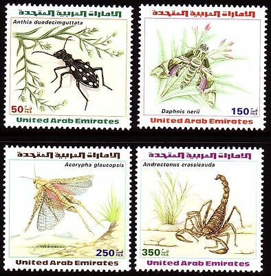 UAE 1999 ** Mi.609/12 Tiere Animals | Arthropoden Skorpion Libelle