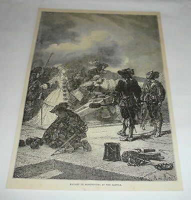 1878 magazine engraving ~ MADAME DE MONTPENSIER AT THE BASTILE