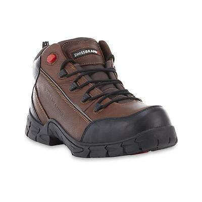 "NEW Men's Norden Leather Steel Toe 6"" Work Boots - Brown - Size: 9.5"