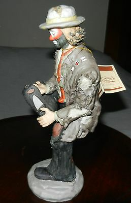 """1980's Emmett Kelly """"HOLE IN MY SHOE"""" FIGURINE FLAMBRO SIGNATURE LIMITED EDITION"""