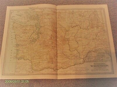 Washington Map by The Century Atlas Co. 1902