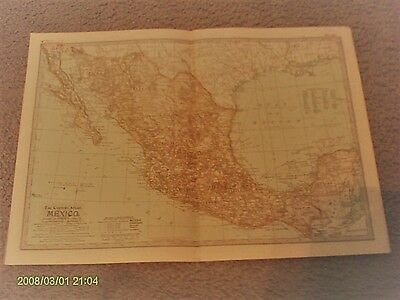 Mexico Map by The Century Atlas Co. 1902