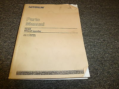 Caterpillar Cat 966C Wheel Loader Bucket Parts Catalog Manual 76J 30K