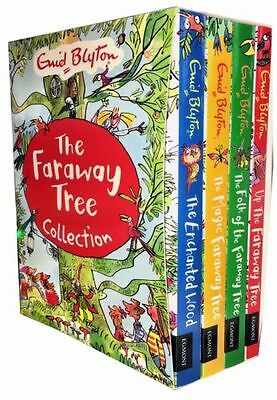 Enid Blytons The Magic Faraway Tree Collection 4 Books Set Pack Enchanted Wood