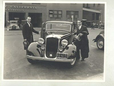 1933 Plymouth Manny & Moe ORIGINAL Factory Photograph ww7070