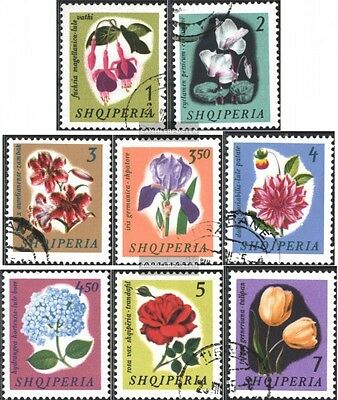 Albania 959-966 (complete issue) used 1965 Flowers