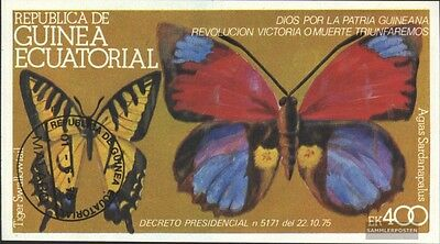 Equatorial-Guinea block266b (complete issue) used 1977 Butterfl