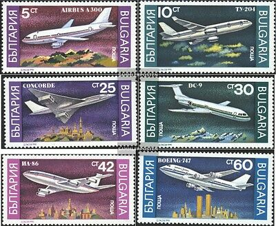 Bulgaria 3858-3863 (complete issue) unmounted mint / never hinged 1990 Aircraft