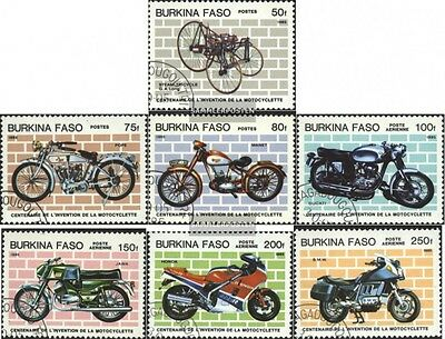 Burkina Faso 998-1004 (complete.issue) used 1985 100 years Moto