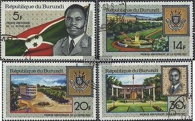 Burundi 378A-381A (complete issue) used 1967 1 Year Republic