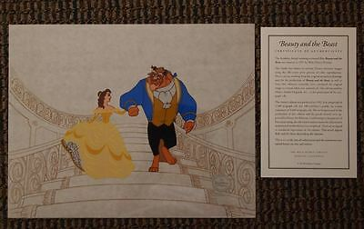 "BEAUTY AND THE BEAST ""On the Staircase"" S/O Disney Sericel UF Belle Cel"