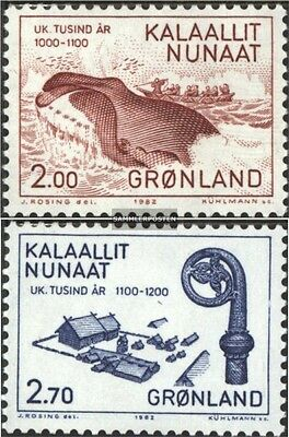 Denmark-Greenland 138-139 (complete issue) unmounted mint / never hinged 1982 10