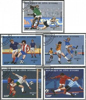 The Ivory Coast 913-917 (complete issue) used 1986 World Cup, M