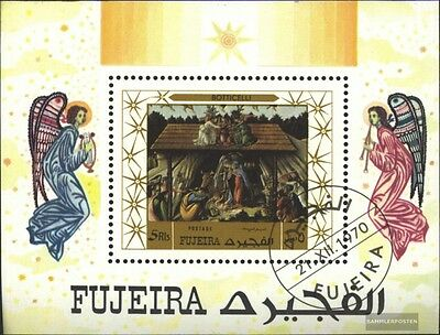Fujeira block32a (complete issue) used 1970 christmas, Painting