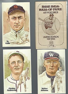 1980 Perez-Steele Hall of Fame Postcards 1st Series BABE RUTH TY COBB LOU GEHRIG